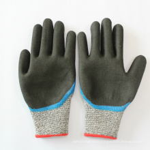 Cut Resistant Gloves Level 5 Anti cut Sandy Nitrile Coated Glove