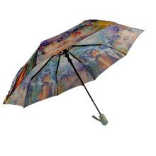 Parapluie de pluie pliant automatique 3 à impression personnalisée