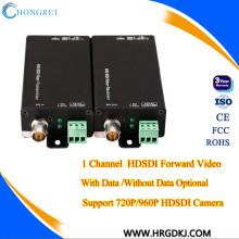 RS485/RS232/RS422 Fiber optic 1 ch SDI converter hd sdi transmitter