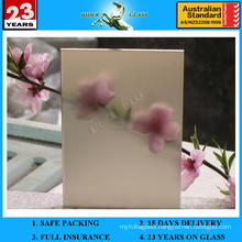 3-12mm Bronze Acid Etched Glass with AS/NZS2208: 1996