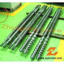 PVC-Rohr-Parallel-Twin-Schnecke und Zylinder