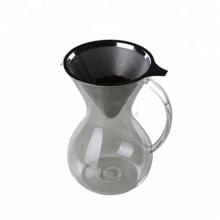 Стеклянная ручная капельная кофеварка с ручкой