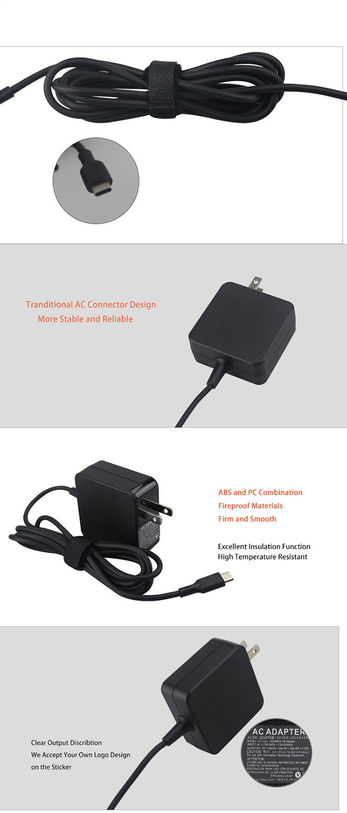 Type-c power adapter