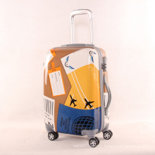 Pull Rod Box Universal Wheel Luggage 20/24 Pouces Graffiti Air Aéronef Marque Stamp Stamp Travel Luggage Wholesale