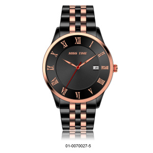 Simple design custom logo quartz watches men