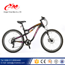Alibaba bicicleta with suspension/Black mountain bike with disc brake/mountain bicycle with wall rim