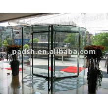 Porta giratória de cristal automático