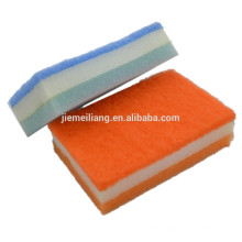 kitchen cleaning scouring pad 3 iN 1 sponge deluxe cleaning sponge scourer filter cotton sponge scouring pad