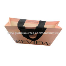 2014 Top Grade Shopping Paper Bag, Customized Patterns, Colors and Specifications Accepted