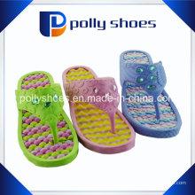 Damen Thongs Sandalen Schuhe Strand Pool Freizeitkleidung Grün Gelb