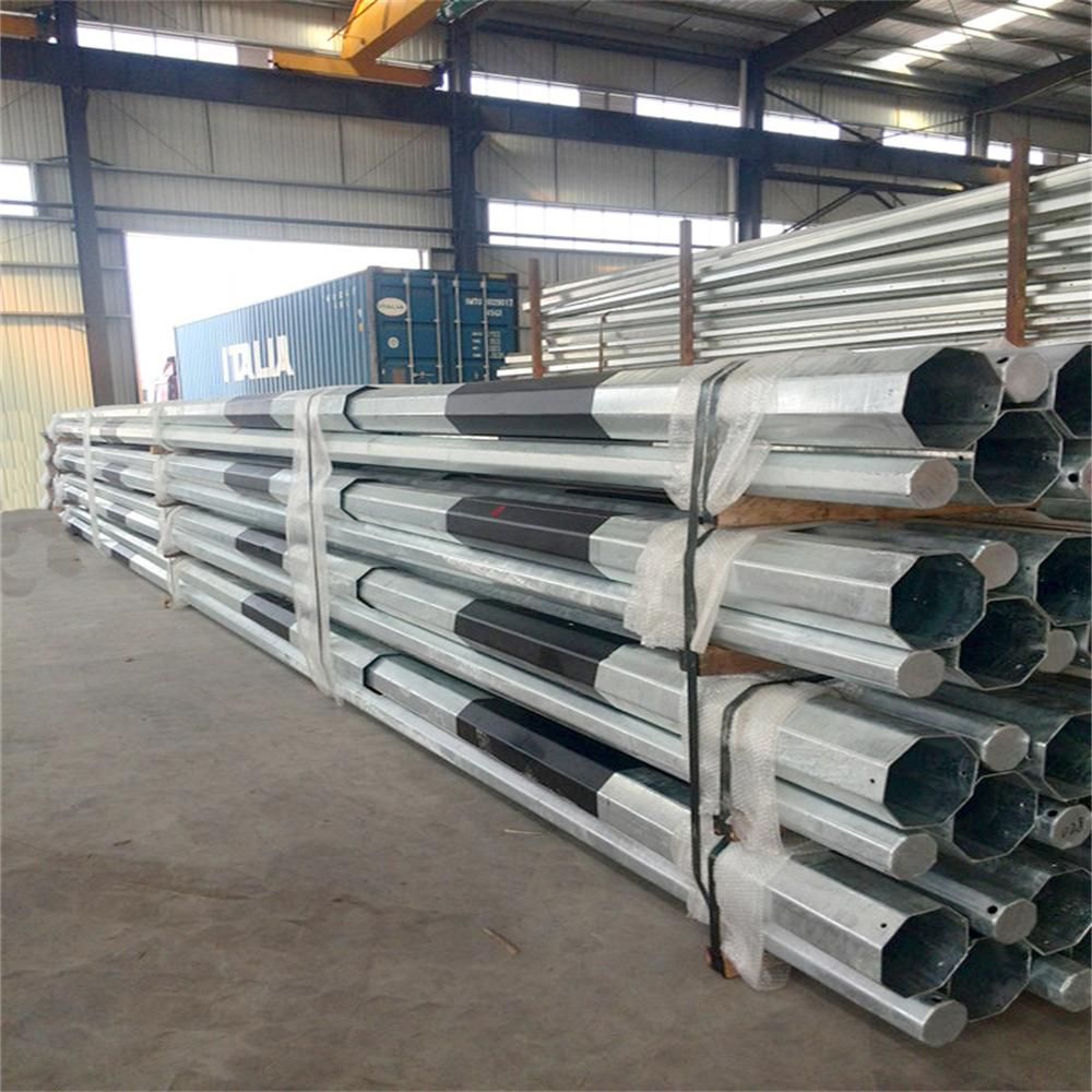 9M 30FT Galvanized Electric steel Pole