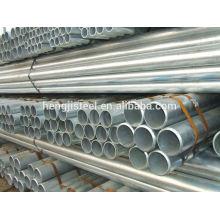 Q235 tuyau en acier galvanisé pour la construction
