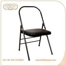 QTZD-001 оптом дешевый черный металлический складной стул йоги