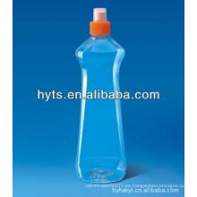 botella de detergente para ropa de plástico