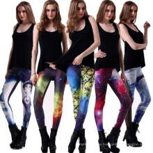 Горячая распродажа дышащий фитнес одежда дамы печать неба звездное небо Женская мода поножи