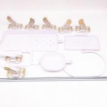 Set de accesorios de baño de cerámica de estilo chino blanco