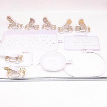 Ensemble d'accessoires de salle de bain en céramique blanche de style chinois