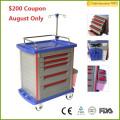 $200 Coupon!! FDA CE Certificate MT01A Hospital Medical Crash Cart / Hospital Trolly