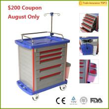 $ 200 Coupon !! FDA CE Zertifikat MT01A Krankenhaus Medical Crash Cart / Krankenhaus Trolly