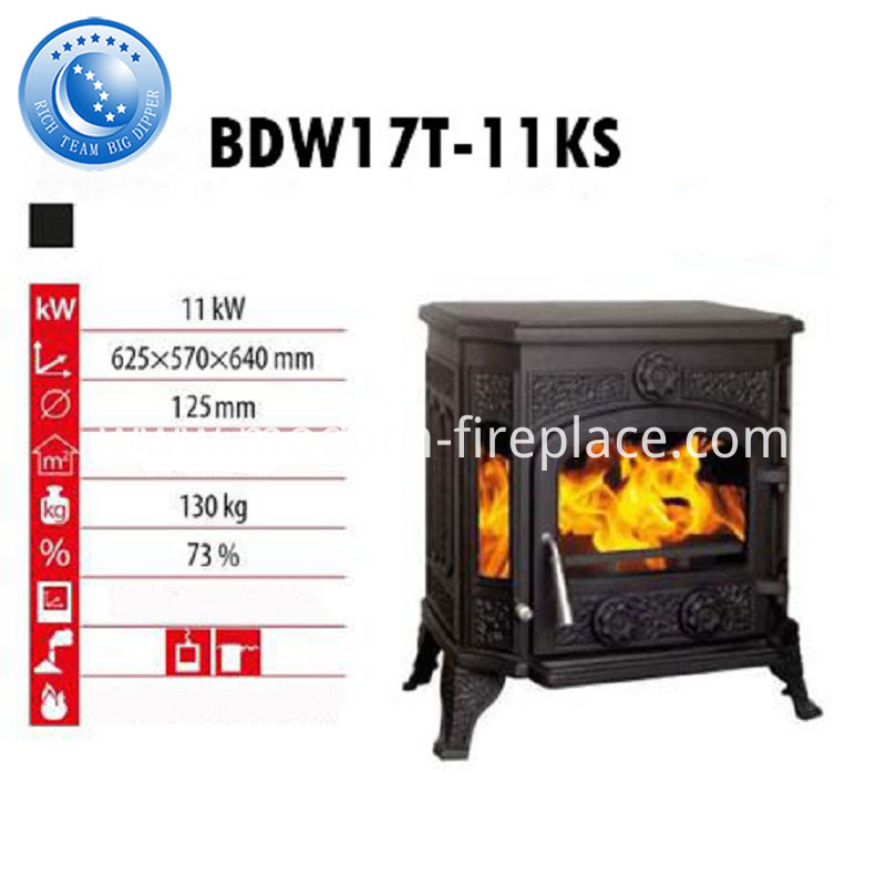 130KG Cast Iron Wood Burning Stoves For Sale