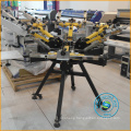 Manual screen printing machine with micro registration