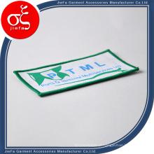 Remendos tecidos da borda de Merrow da alta qualidade feita sob encomenda