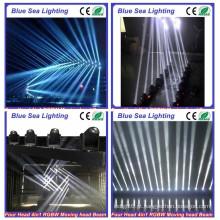 RGBW 4in1 em movimento 4x10w led pixel feixe em movimento bar luz