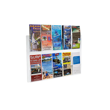Clear Acrylic 10-Pocket Wall Mount Brochure Holder