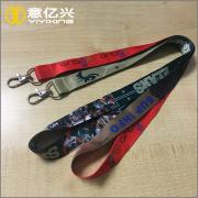 Id key ring holder lanyard strap with hooks