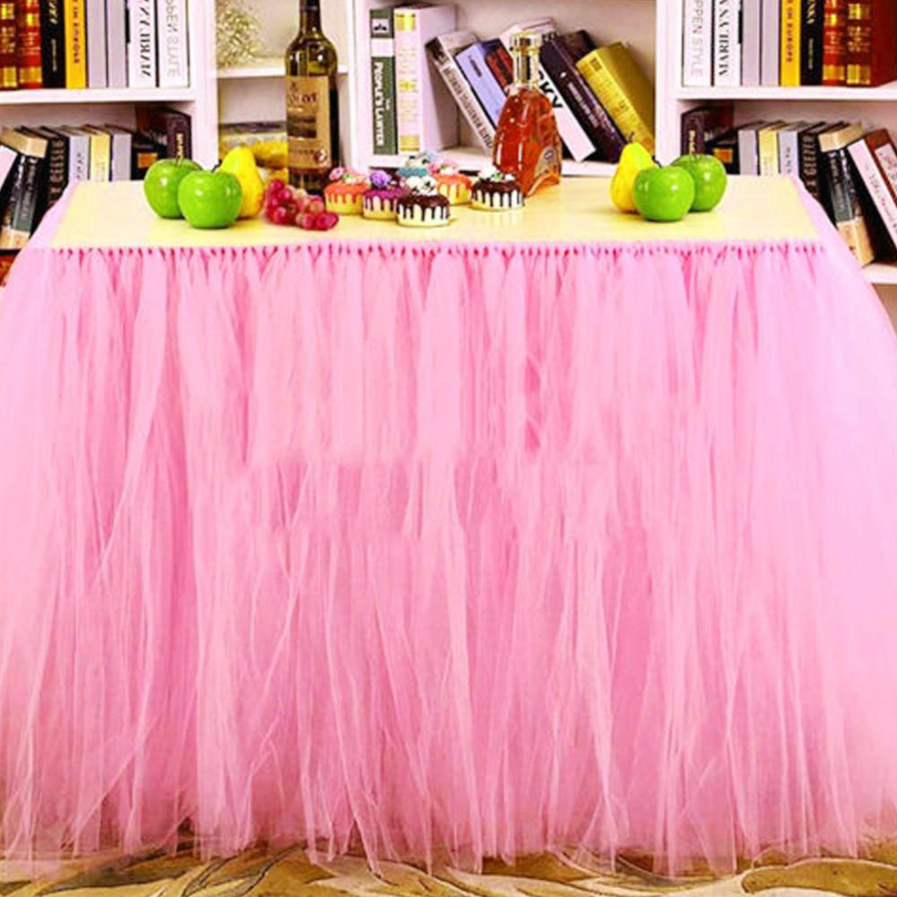 Table Skirting Birthday Wedding Table Skirt