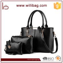 Производители Китая кожа PU дамы tote сумочка сумка набор