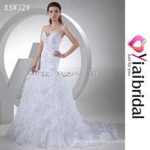 RSW329 Crystal Appliques Keyhole Back Wedding Dress