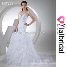 RSW329 Crystal Appliques Keyhole Back Wedding Dress