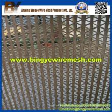 Malha de metal perfurada usada em tetos falsos