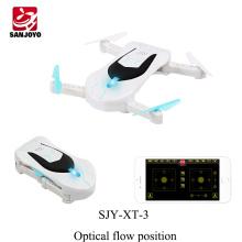 Forma do carro dobrável zangão SJY-XT-3 zangão de bolso controle APP controle remoto Wifi FPV zangão com 720 P HD Altitude hold PK Eachine E52