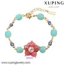 74587 Xuping novo charme projetado pulseira de ouro das mulheres