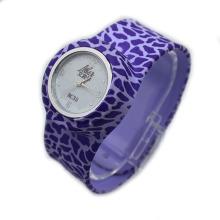 Volledige kleurrijke gedrukte producten siliconen klap horloges