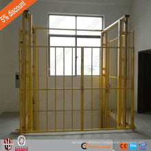 super quality lead rail type hydraulic electrical freight cargo lift elevator/warehouse elevator lift