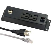 Doubles prises de courant américaines avec stocks USB