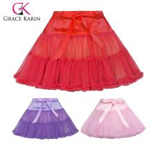 Grace Karin Little Girls de lujo 2-Layers Soft Tulle Netting Danza Tutu Petticoat Underskirt 1 ~ 9 años CL010458