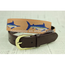 mens fashion embroidery belt