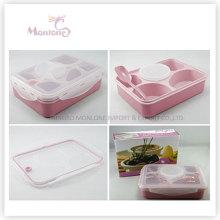 Кухонные Принадлежности 4 Отсека Для Еды Пластиковые Микроволновая Печь Коробка Обеда