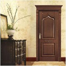 Puerta de entrada de madera de teca, puertas dobles o puertas sencillas