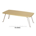 Simple Folding Metal Notebook Table Wooden Top