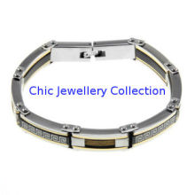 Classic 316l Mens Stainless Steel Bracelets With Customized Logo , Fashion Accessory