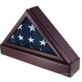 Triangle Medal Box for Flag and Made of Wood