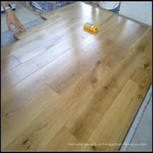 Revestimento de madeira sólida de carvalho branco rústico