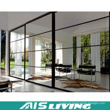 Wardrobes de deslizamento da mobília do quarto da melamina das portas do espelho (AIS-W315)