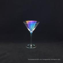 Chapado en Vaso de Martini de Colores con Burbuja