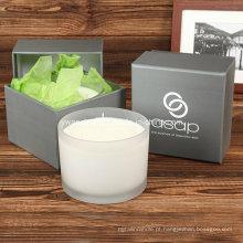 Vela orgânica da massagem da cera da soja de Skincare de 3 Wicks Aromatherapy
